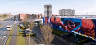 The Crystal Ship in Oostende, street art